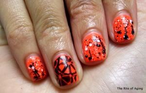 Orange Nails prompt