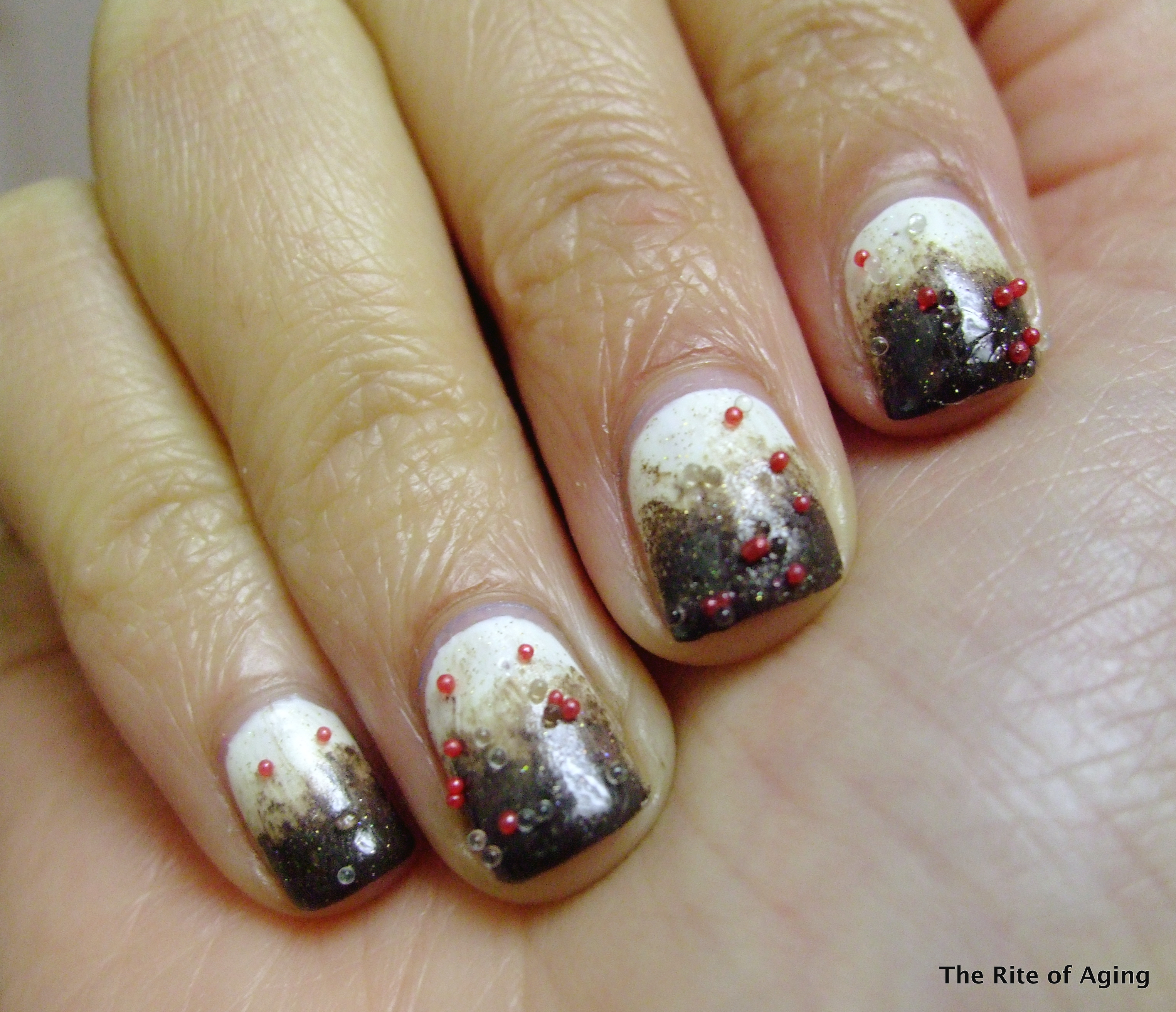 Nail Art: Peppermint Bark (Nail Fail?) | the Rite of Aging...early