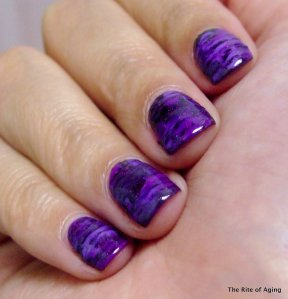 #31DC2014 - September 6: Violet Nails | The Rite of Aging…Early
