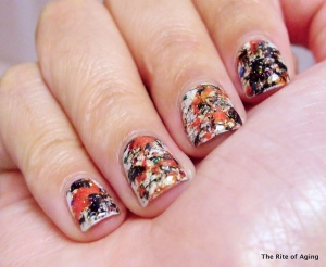 NAIL October week one: splatter