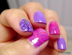 purple wavy, swirly