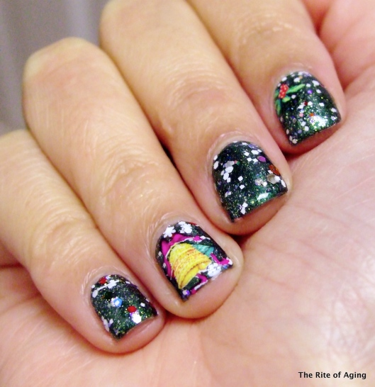 Challenge Your Nail Art - Christmas Ornaments | The Rite of Aging