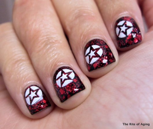 Red Glitter Base stamping | The Rite of Aging