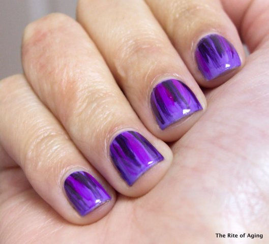 Purple Monochrome Waterfall | The Rite of Aging