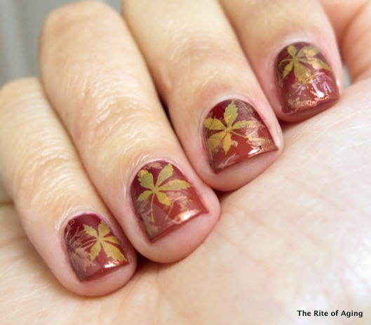 Stamping Fall Leaves | The Rite of Aging