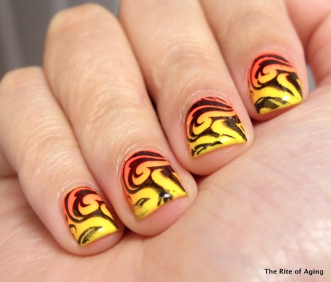 Neon Fire Stamping | The Rite of Aging