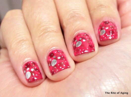Puppy Pink Dotticure and Stamping | The Rite of Aging