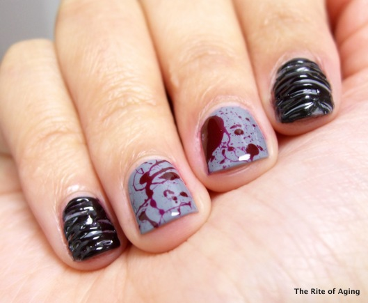 Sugarspun and Splatter Manicure | The Rite of Aging