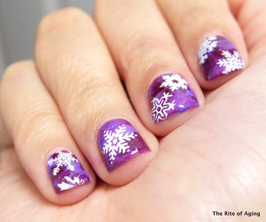 Waterspotting and Stamping Snow Day | The Rite of Aging