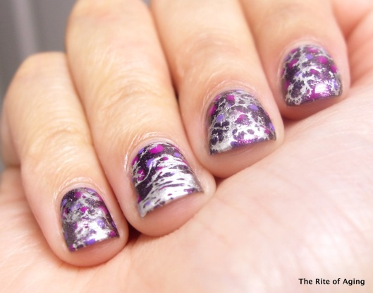 Waterspotting and Distressed Nail Art | The Rite of Aging