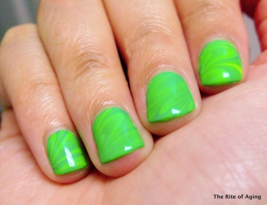 St. Patrick's Neon Watermarble | The Rite of Aging
