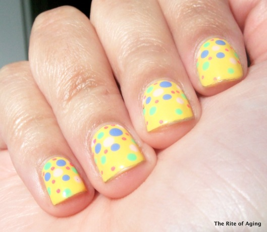Easter Dotticure Nail Art | The Rite of Aging