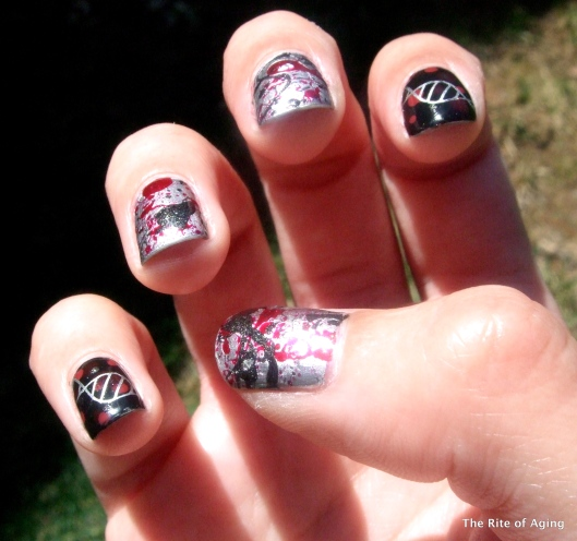 Hemangiosarcoma Awareness Nail Art | The Rite of Aging