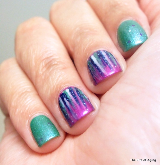April Showers Waterfall Nail Art | The Rite of Aging