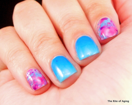 Neon Splatter and Gradient Nail Art | The Rite of Aging