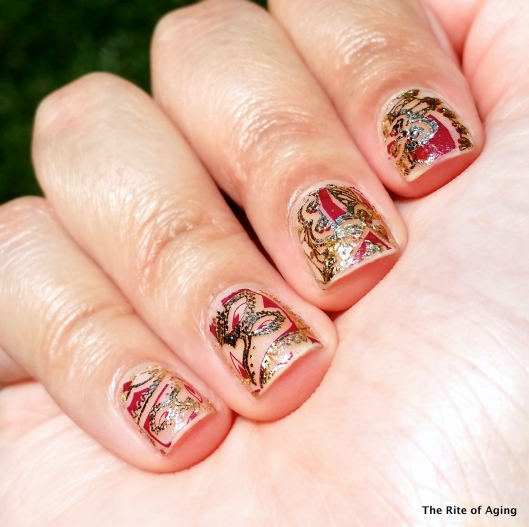 Indian Water Decals Nail Art | The Rite of Aging