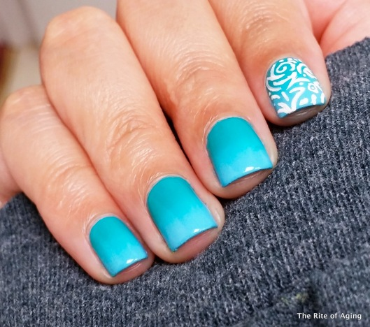 Blue Teal Gradient with Freehand Accent | The Rite of Aging