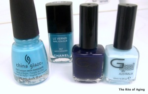 Blue Saran-Wrap Polishes | The Rite of Aging