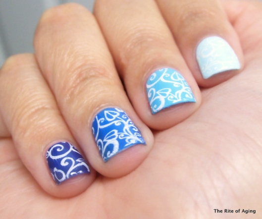 Blue Stamping Ombre | The Rite of Aging