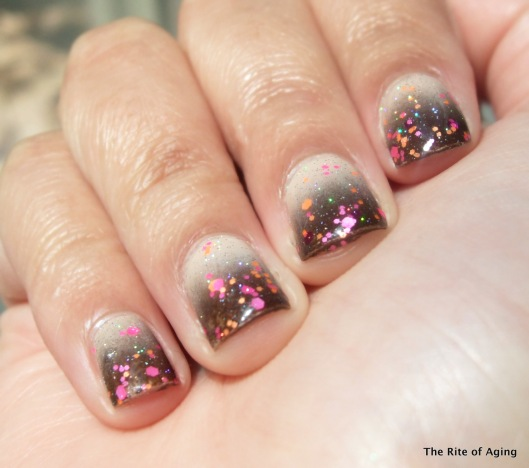 Brown Gradient and Sponged Glitter | The Rite of Aging