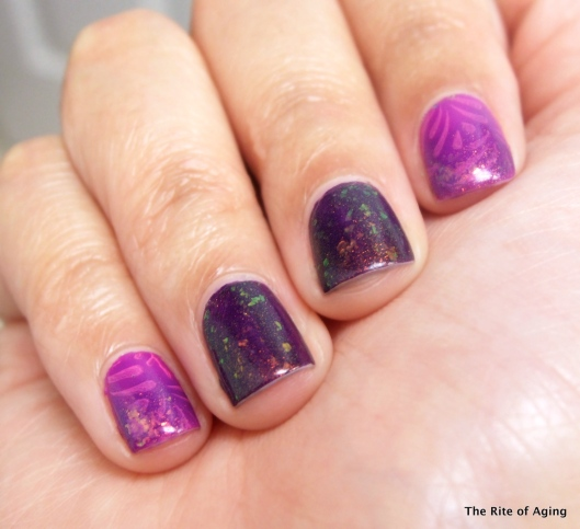 Purple-Pink Sponge Gradient | The Rite of Aging