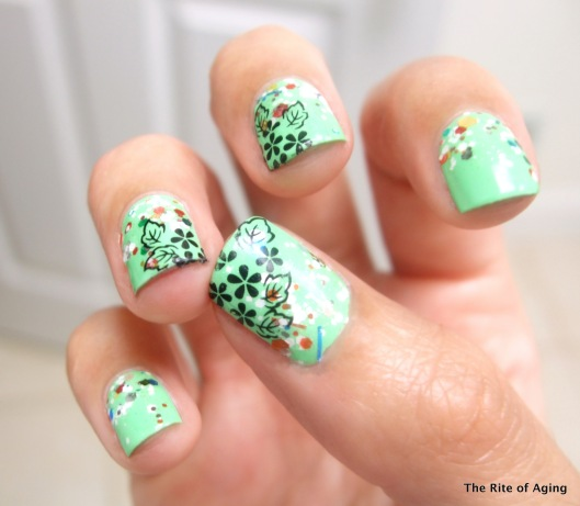 Sponge Glitter and Water Decals | The Rite of Aging Early