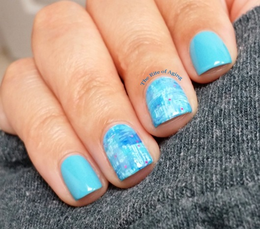 Blue Dry Brush Nail Art | The Rite of Aging