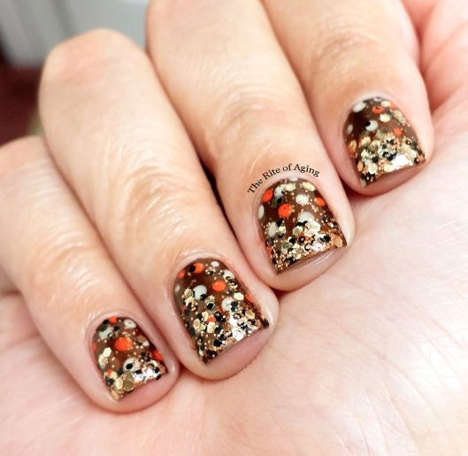 Polka Dot Glitter Gradient Nail Art | The Rite of Aging