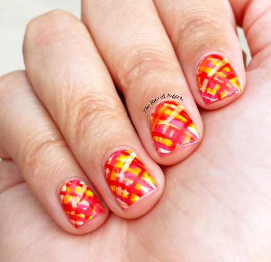 Picnic Blanket Plaid Nail Art | The Rite of Aging