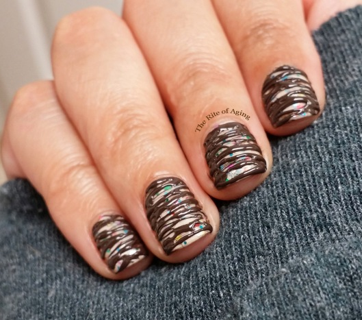 Chocolate Frosting Sugar-Spun Nail Art | The Rite of Aging