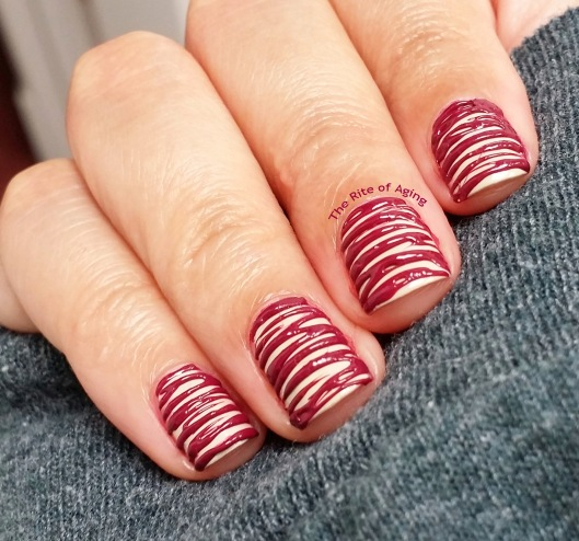 Raspberry Cheesecake Sugar-Spun Nail Art | The Rite of Aging