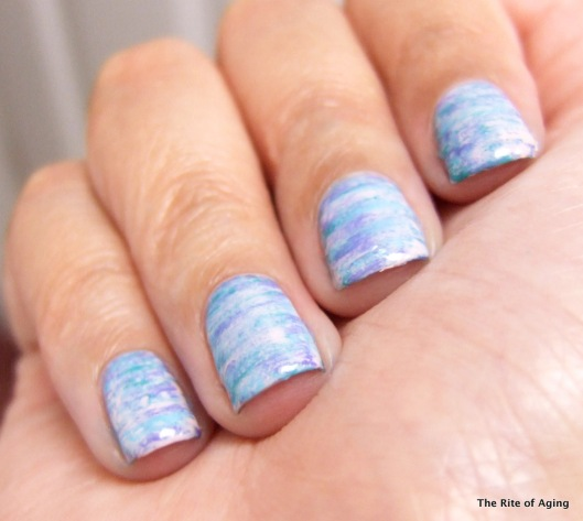 Nail Polish Fan Brush Art with BPS | The Rite of Aging