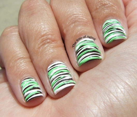 Mint Chocolate Sugar Spun Nail Art | The Rite of Aging