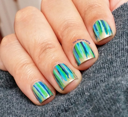 #OMD3NAILS - Colorful Waterfall Nail Art | The Rite of Aging