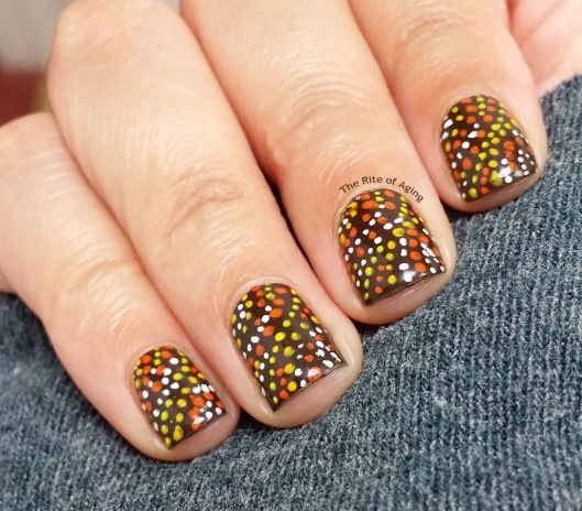 #OMD3NAILS - Polka Dot Dotillism Nail Art | The Rite of Aging