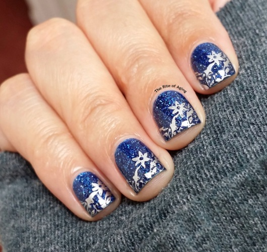 Floral Stamping Nail Art | The Rite of Aging