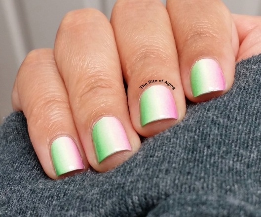 #OMD3NAILS Watermelon Gradient Nail Art | The Rite of Aging