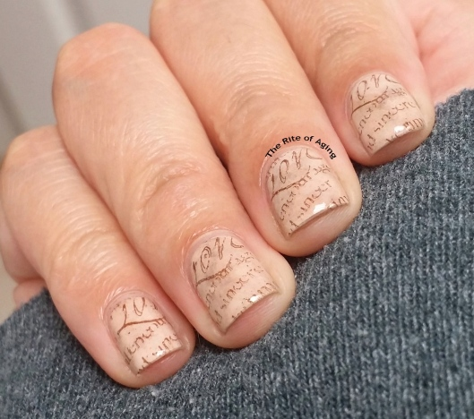 #OMD3NAILS Stamped Handwriting Nail Art | The Rite of Aging