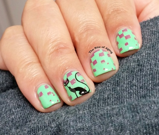#OMD3NAILS - Cat Decal Nail Art | The Rite of Aging