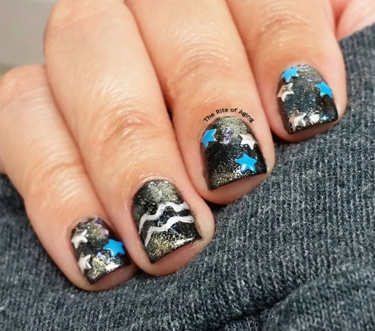 #OMD3NAILS - Aquarius Galaxy Nail Art | The Rite of Aging