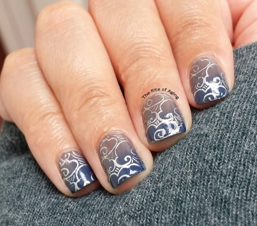 #OMD3NAILS - Gradient and Weather Stamping Nail Art | The Rite of Aging