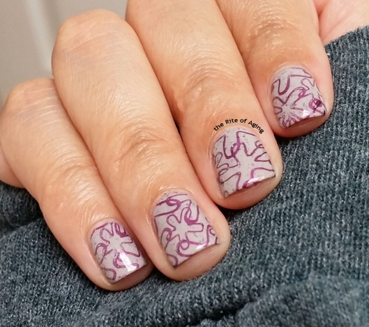 Simple Purple Stamping with Born Pretty Store | The Rite of Aging