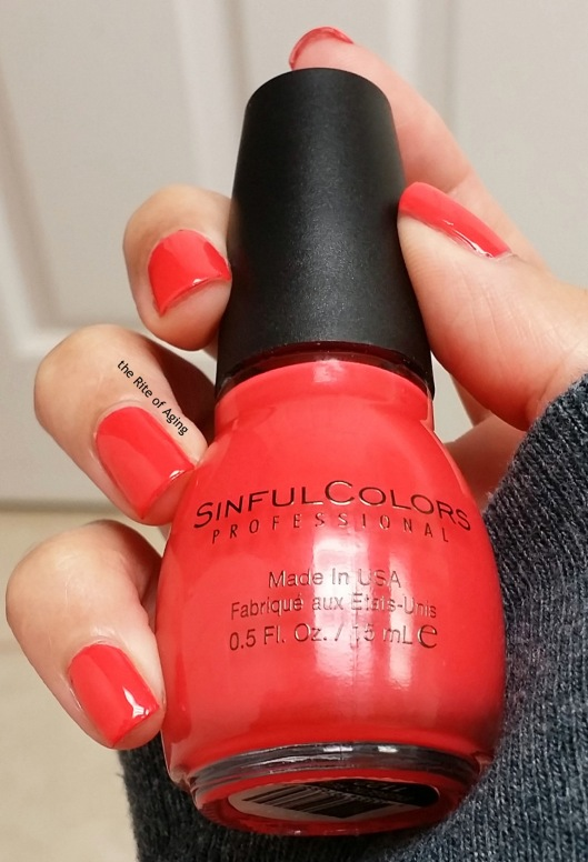 SinfulColors Swatch - Energetic Red | The Rite of Aging