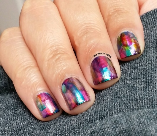 #InfiniteOmbre Dry Brush Nail Art | The Rite of Aging