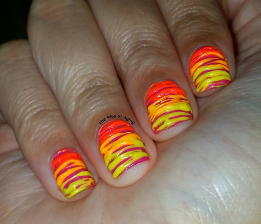 Neon Gradient Sugar-Spun Nail Art | The Rite of Aging