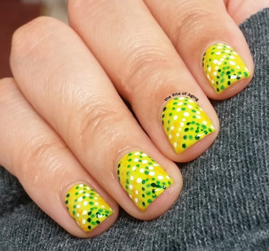 Green #Dotillism Nail Art | The Rite of Aging