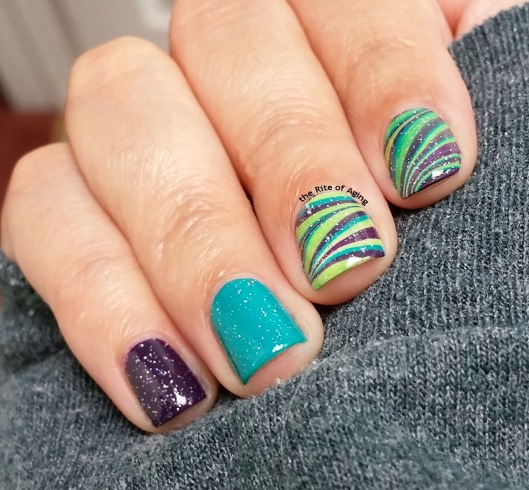 Barry M Watermarble Nail Art | The Rite of Aging