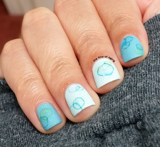 Bubbly Water Decals Nail Art | The Rite of Aging