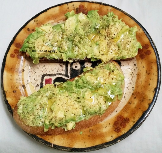 ra-friendly avocado on toast