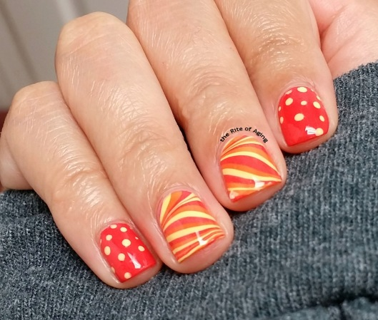 A Class Act Watermarble Nail Art | The Rite of Aging